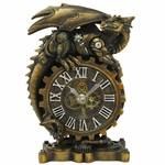 Steampunk Dragon Desk Clock