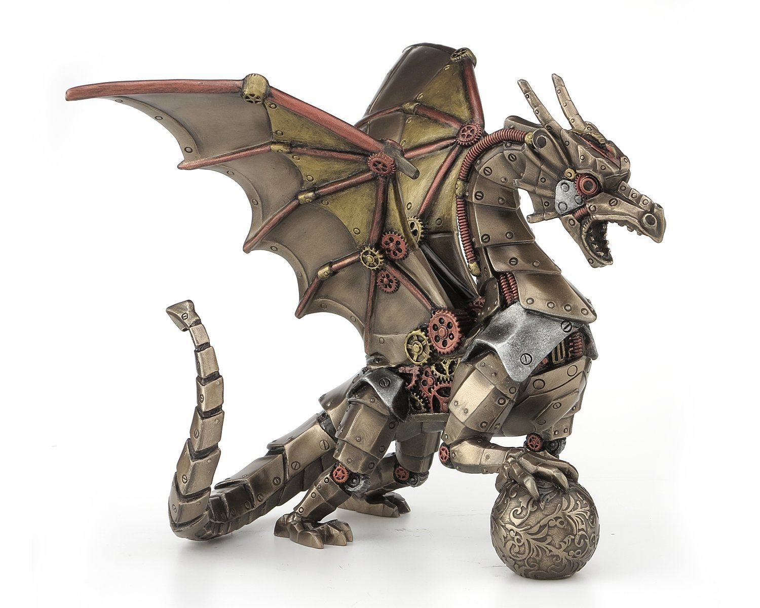 Steampunk Home Decor Ideas Steampunk Dragon With Sphere Figurine Steampunk Gifts