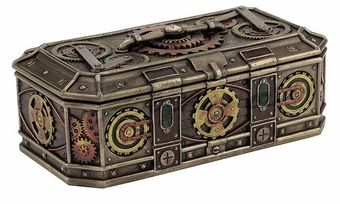 Steampunk Gears Trinket Box