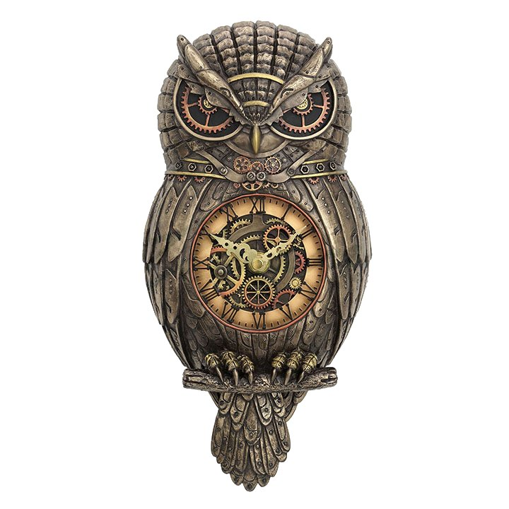Owl Wall Clock Steampunk Housewares Amp Gifts Fairyglen Com