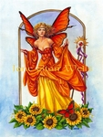 Sunflower Fairy Cross Stitch Pattern
