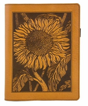 Sunflower Leather Composition Notebook