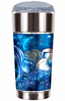 Swimming in Starlight Mermaid Travel Mug