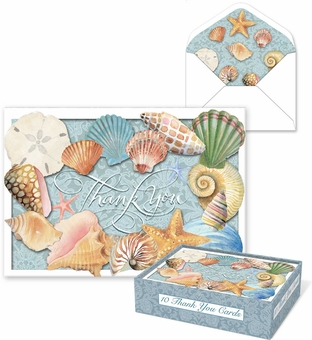Thank You Shells Die-Cut Notecards