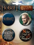 The Hobbit Button Set