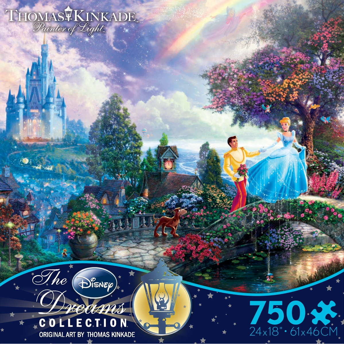 Thomas Kinkade Cinderella Wishes Upon A Dream Puzzle