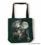 Three Wolf Moon Tote Bag