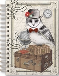 Traveling Owl Spiral Bound Journal
