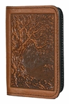 Tree of Life Leather Card Holder