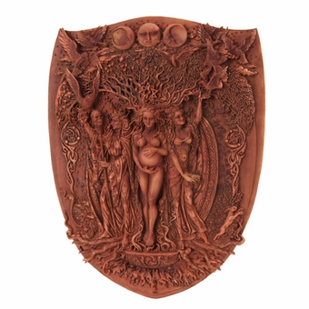 Triple Goddess Sheild Wall Plaque