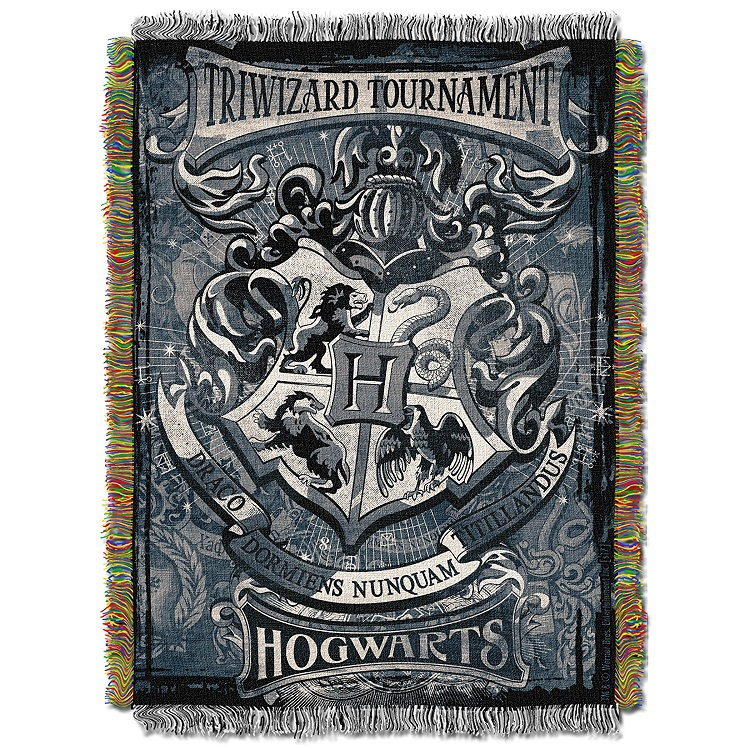 triwizard tournament tapestry throw blanket harry potter. Black Bedroom Furniture Sets. Home Design Ideas
