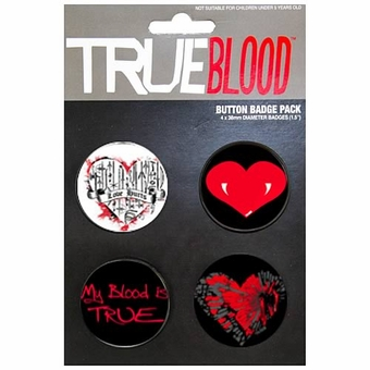True Blood Pin Set of 4 Pins
