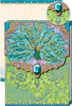 Turquoise Peacock Glitter Pocket Note Pad