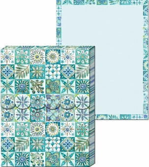 Turquoise Tile Pocket Notepad