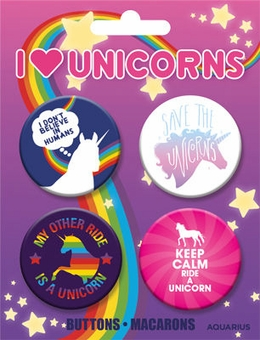 Unicorn Buttons 4-Pack