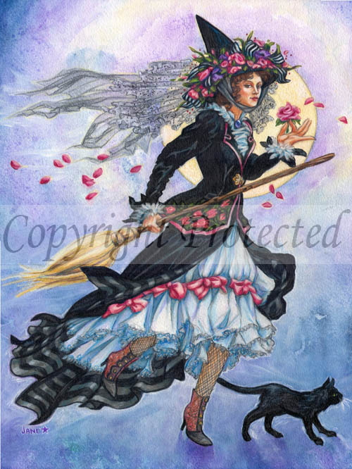 Victorian Witch\' by Jane Starr Weils: Art Prints: FairyGlen.com