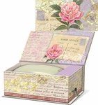 Vintage Floral Music Box with Verbena Soap
