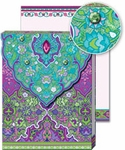 Violet & Teal Glitter Pocket Note Pad