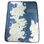 Westeros Map Fleece Throw: Game of Thrones