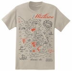 Game of Thrones Map of Westeros Shirt