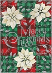 White Poinsettia Christmas Cards