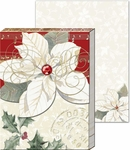 White Poinsettia Pocket Notepad