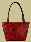 Wild Rose Leather Handbag