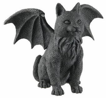 Winged Cat Gargoyle