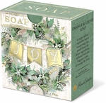 Winter Greens Pleat-Wrapped Soap