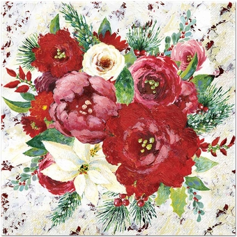 Winter Roses Luncheon Napkins