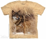 Winter Wolf Portrait T-Shirt