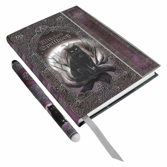 Witches Spell Book Embossed Journal with Pen