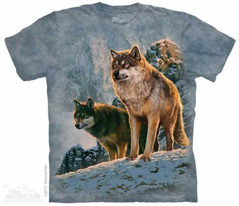 Wolf Couple Sunset T-Shirt