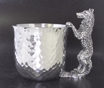 Wolf Pewter Cup