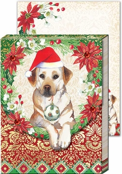 Yellow Lab Wreath Note Pad