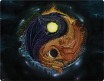 Yin Yang Dragon iPad (3rd/4th Gen) Skin