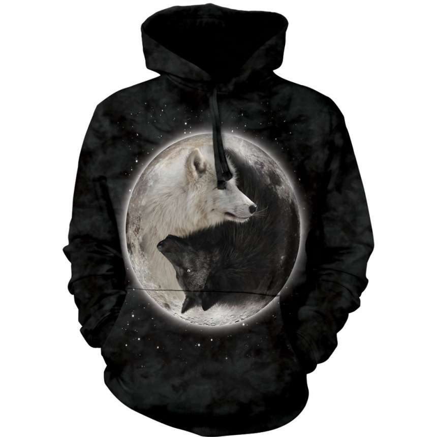 a9be80718cf6 Yin Yang Wolves Hoodie  Wolf Gifts  Myths   Monsters  FairyGlen.com