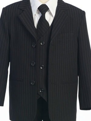Black/White Stripes Single Breasted Boy's Suit - Boy Tuxedos