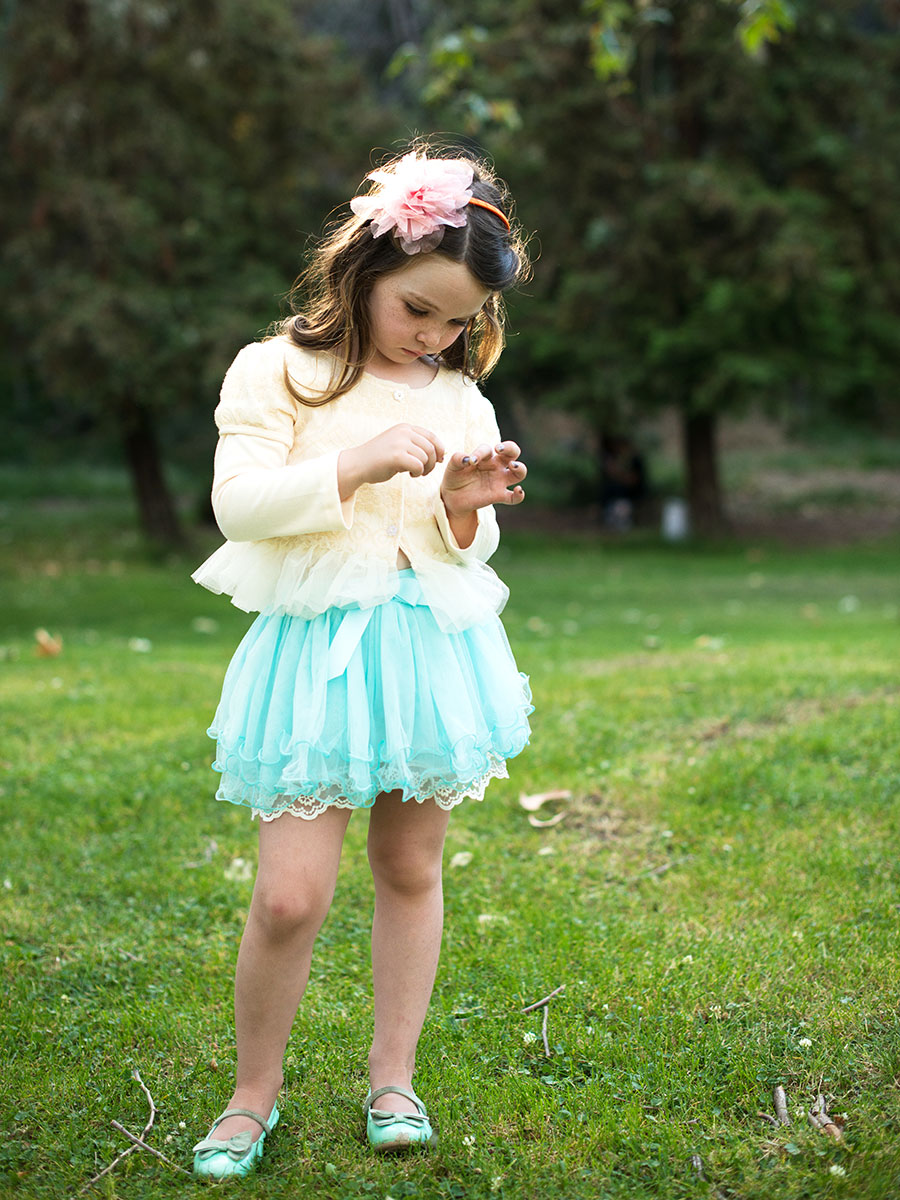 Blue Lace Tutu Skirts For Toddler - Dressy Casual