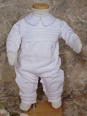 Boys Knit Coverall Christening Wear