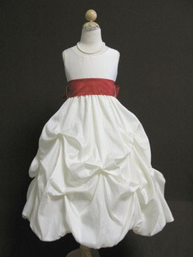 Bubble Taffeta Flower Girl Dress