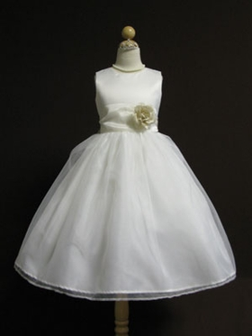 Changeable Organza Sash Flower Girl Dress