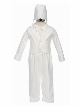 Cross Embroidered Boy Baptism Outfit