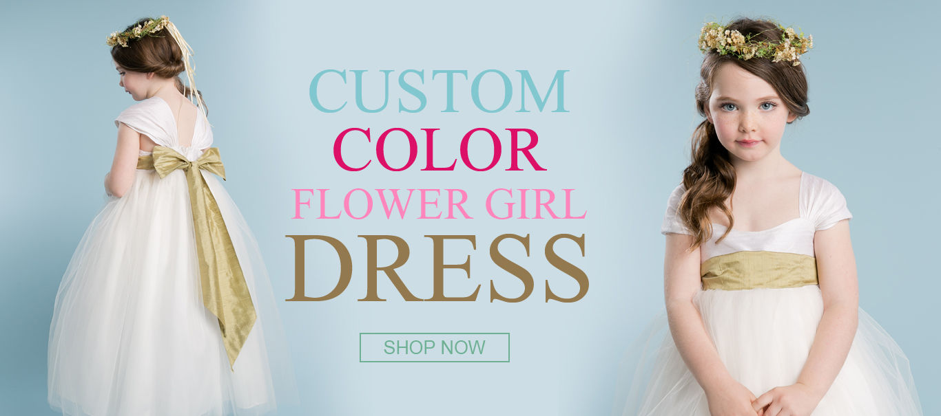 Bring a Unique Appeal to Your Girl with Custom Colored Flower Girl Dress