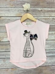 Cute Cat T-shirt with Bow