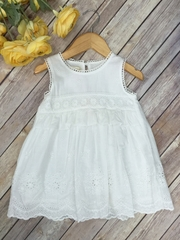 Cute Linen Crochet Dress