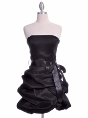 Dashing Black Bubble Hem Party Dress