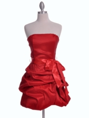 Dashing Red Bubble Hem Party Dress