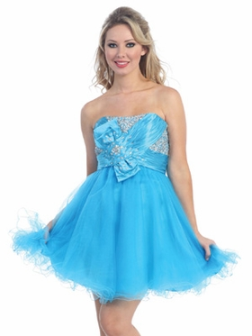 Elegant Bodice Short Prom Dress