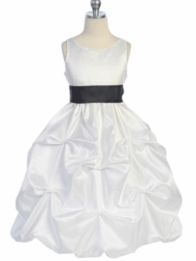 Elegant Pick-up Style Flower Girl Dress